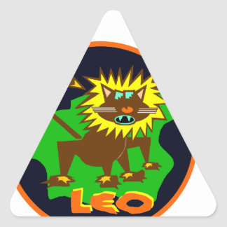 Leo Badge Triangle Sticker