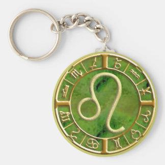 Leo Basic Round Button Keychain