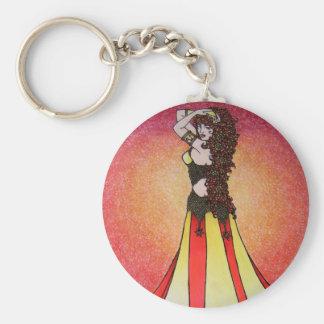 Leo Belly Dancer Keychain