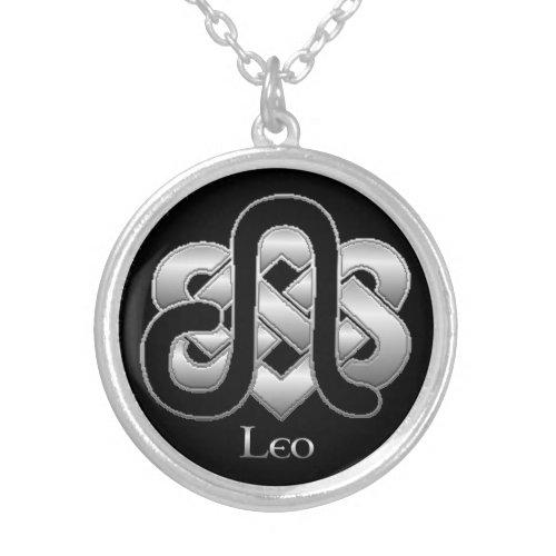 Leo Birth Sign Celtic Knot Zodiac Necklace