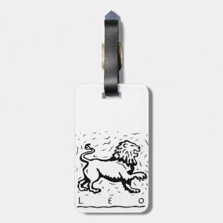 Leo Birthday Year Astrological Zodiac Sign Bag Tag