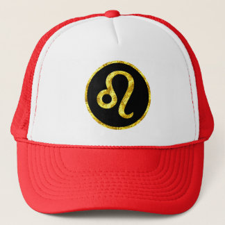 leo-black-gold-crest-hat trucker hat