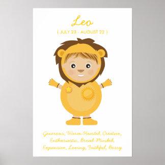 Leo - Boy Horoscope Poster