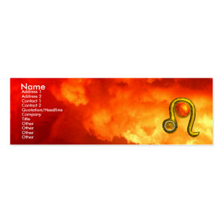 LEO ,    bright vibrant topaz red yellow  clouds Double-Sided Mini Business Cards (Pack Of 20)