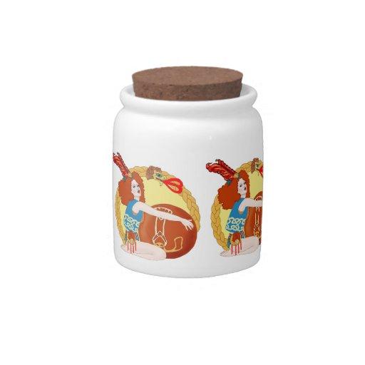 Leo Candy Jars