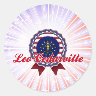 Leo-Cedarville, ADENTRO Etiquetas Redondas