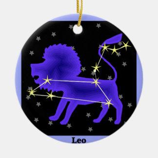 Leo Ceramic Ornament