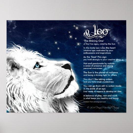 Leo Characteristics Poster