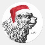 Leo Christmas Stickers