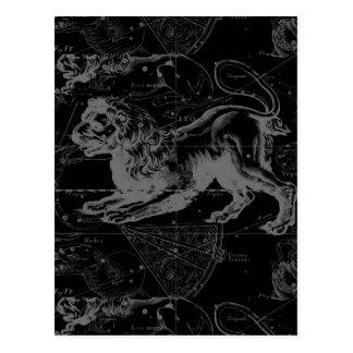 Leo Constellation Hevelius 1690 Decor Postcard