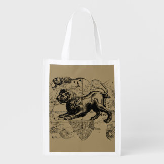 Leo Constellation Hevelius 1690 July 23  August 22 Grocery Bag