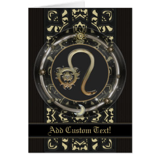 Leo Custom Zodiac Sign Card