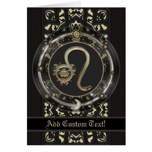 Leo Custom Zodiac Sign Card