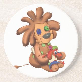 Leo Dog Sandstone Coaster