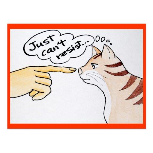 Leo el gato - apenas no puede resistir la postal