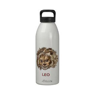 LEO, el león de risa Botella De Agua Reutilizable