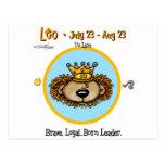 Leo el león - horóscopo postales