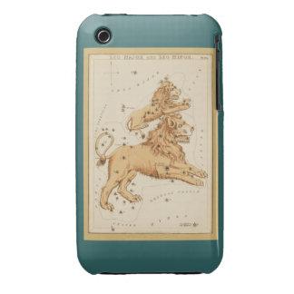 Leo el león - muestra del vintage de la imagen del funda para iPhone 3 de Case-Mate