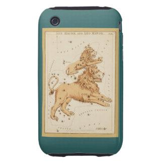 Leo el león - muestra del vintage de la imagen del funda resistente para iPhone 3
