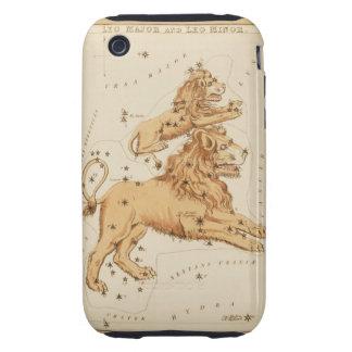 Leo el león - muestra del vintage de la imagen del funda though para iPhone 3