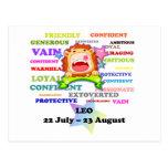 Leo, el león, regalos de encargo de la astrología postal