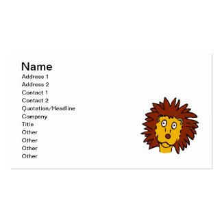 Leo el león tarjeta de visita