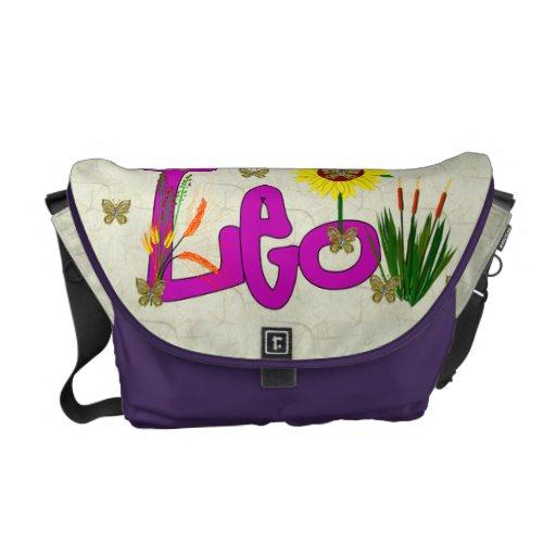 Leo Flowers Messenger Bags