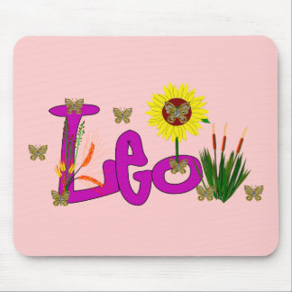Leo Flowers Mouse Pad