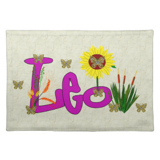 Leo Flowers Placemat