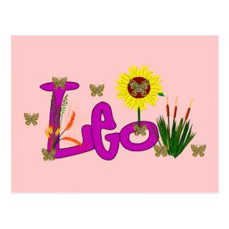 Leo Flowers Postcard