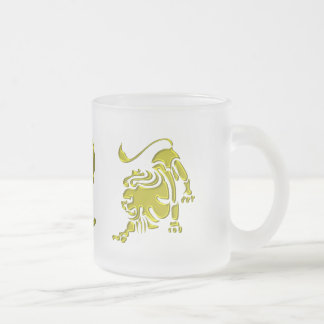 Leo Frosted Glass Coffee Mug