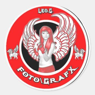 Leo.G. Foto/GrafX - Jessie Pegatinas Redondas