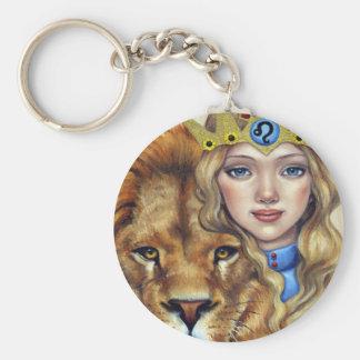 Leo Girl Keychain