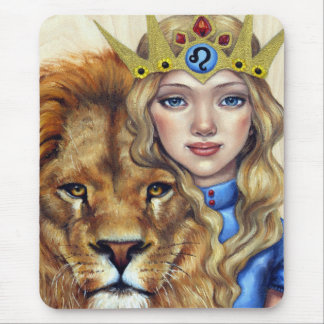 Leo Girl Mouse Pad