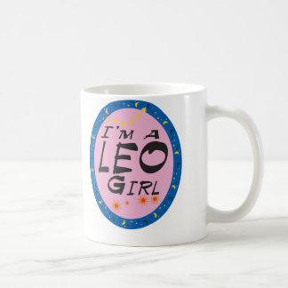 LEO GIRL CLASSIC WHITE COFFEE MUG