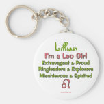 Leo Girl Personalized Zodiac Keychain