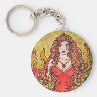 Leo Goddess Key Chain