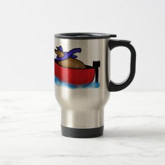 Leo Goes Boating Coffee Mug