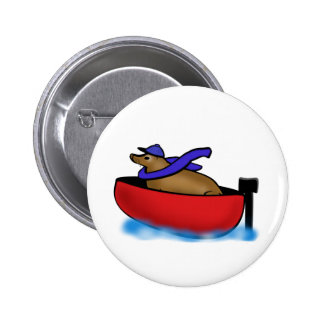 Leo Goes Boating Pinback Buttons