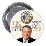 Leo Hindery para el alcalde de NYC en 2013 Pin