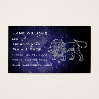 Leo Horoscope Business Card