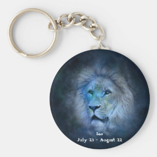 Leo Horoscope Button Keychain