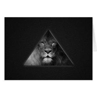 Leo Horoscope Lion Illustration Black and White Greeting Card