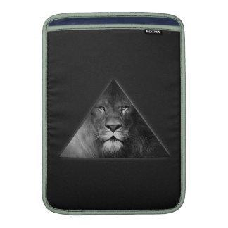 Leo Horoscope Lion Illustration Black and White MacBook Sleeve