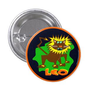 Leo Horoscope Sign Lion Symbol Astrology Button