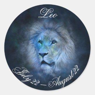 Leo Horoscope Sign Lion Symbol Astrology Sticker