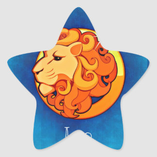 leo horoscope star sticker