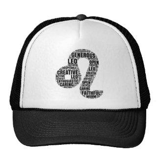 Leo Horoscope Symbol in a Word Cloud! Trucker Hat