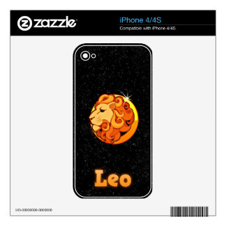 Leo illustration iPhone 4 decals