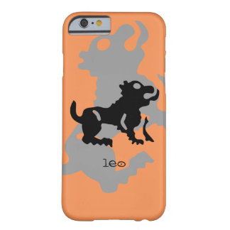 Leo in black barely there iPhone 6 case